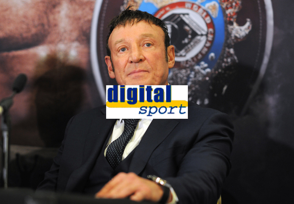 Boxing - 2018 Anthony Joshua-Joseph Parker Press Conference - Dorchester Hotel, London<br /> <br /> Kevin Barry - trainer of Joseph Parker , gained notoriety when in the 1984 Olympic Games in Los Angeles Against all odds he made his way to the semi - final, where he faced future four-time world heavyweight champion Evander Holyfield. Barry had received multiple warnings for trying to hold Holyfield and was deducted two points for holding and for repeatedly hitting Holyfield in the back of the head. When referee Gligorije Novicic yelled break during a Holyfield flurry of punches, Holyfield continued to punch Barry knocking him down. Referee Novicic disqualified Holyfield for hitting after the break. <br /> <br /> COLORSPORT/ANDREW COWIE