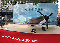 Vickers Supermarine Spitfire, Dunkirk - World film premiere, Leicester Square Gardens, London UK, 13 July 2017, Allied soldiers from Belgium, the British Empire, Canada, and France are surrounded by the German army and evacuated during a fierce battle in World War II.