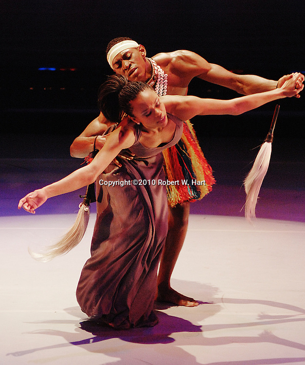 """Dallas Black Dance Theater dancers perform """"Simple Prayer"""", choreographed by Baba Chuck Davis, Wednesday evening, December 8, 2010 at the Dee and Charles Wyly Theater in Dallas, Texas"""
