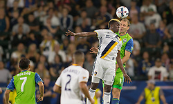 July 29, 2017 - Carson, CA, USA - Carson, CA - Saturday July 29, 2017: Gyasi Zardes, Chad Marshall during a Major League Soccer (MLS) game between the Los Angeles Galaxy and the Seattle Sounders FC at StubHub Center. (Credit Image: © Michael Janosz/ISIPhotos via ZUMA Wire)