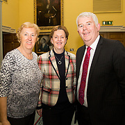 08.12.2016                   <br /> Pictured at the launch of the Shannon Airport Christmas Racing Festival at Hunt Museum were, Mary Fitzgerald, Woodlands Hotel, Maria O'Gorman Skelly, Strand Hotel and David Fitzgerald, Woodlands Hotel. Picture: Alan Place