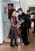 LULU GUINNESS; PALOMA FAITH, Lulu Guinness And Rob Ryan Fan Bag - Launch Party. Air Gallery. London. 10 November 2010.  -DO NOT ARCHIVE-© Copyright Photograph by Dafydd Jones. 248 Clapham Rd. London SW9 0PZ. Tel 0207 820 0771. www.dafjones.com.