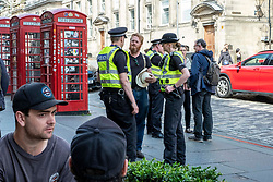 Pictured: Chief Inspector Murray Starkey ,  Police Sergent Janie Harman and PC Greig Stephen<br /><br />Summer City is Edinburgh Division's annual campaign to keep the public safe during the Edinburgh Festival.<br /><br />Chief Inspector Murray Starkey was joined by Police Sergent Janie Harman and PC Greig Stephen as they engaged with the public.<br />Ger Harley | EEm 10 July 2019