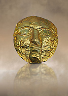 1st -2nd century AD gold death mask from the Roman levant.  Jerusalem, Israel. British Museum no 139535
