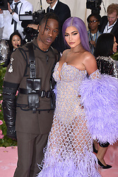 Kylie Jenner and Travis Scott attend The 2019 Met Gala Celebrating Camp: Notes On Fashion at The Metropolitan Museum of Art on May 06, 2019 in New York City. Photo by Lionel Hahn/ABACAPRESS.COM
