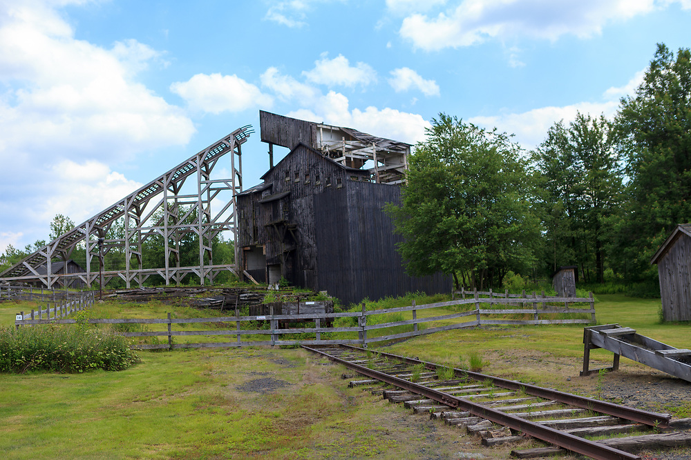 Weatherly, PA, USA - June 20, 2013: Coal breaker at Eckley Miners Village in PA, which was built for the Molly Maquires movic.