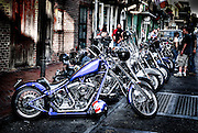 Harley Davidson Motorcycles, Louisiana, New Orleans, USA