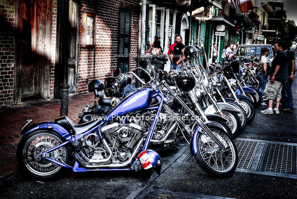 Harley Davidson Motorcycles, Louisiana, New Orleans, USA