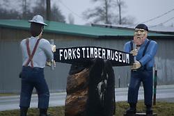 Forks Timber Museum Sign, Forks, Washington, US