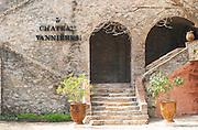 An elegant stone stair case at the winery leading up to the chateau building Chateau Vannieres (Vannières) La Cadiere (Cadière) d'Azur Bandol Var Cote d'Azur France
