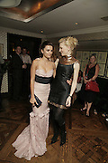 Penelope Cruz and Cate  Blanchett, UK premiere for Pedro Almodovar's Volver. Curzon Mayfair and afterwards at the Mirabelle. London. 3 August 2006. ONE TIME USE ONLY - DO NOT ARCHIVE  © Copyright Photograph by Dafydd Jones 66 Stockwell Park Rd. London SW9 0DA Tel 020 7733 0108 www.dafjones.com