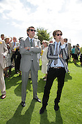 Bryan Ferry and Merlin Ferry, Glorious Goodwood. 31 July 2007.  -DO NOT ARCHIVE-© Copyright Photograph by Dafydd Jones. 248 Clapham Rd. London SW9 0PZ. Tel 0207 820 0771. www.dafjones.com.