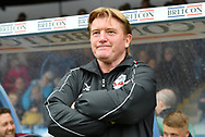 Scunthorpe United Manager Stuart McCall  during the EFL Sky Bet League 1 match between Scunthorpe United and Rochdale at Glanford Park, Scunthorpe, England on 8 September 2018. Photo Ian Lyall
