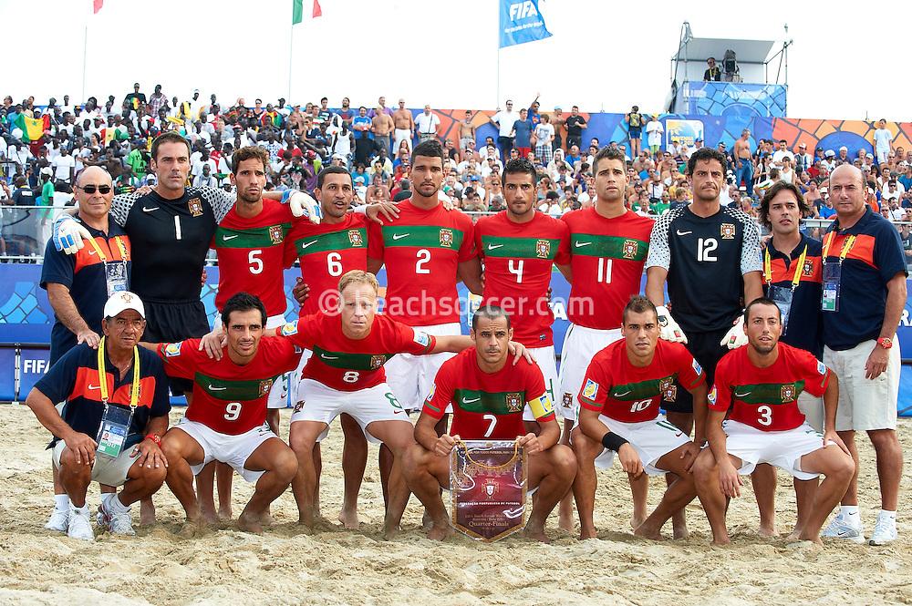 RAVENNA, ITALY - SEPTEMBER 08: FIFA Beach Soccer World Cup at the Stadium del Mare on September 8, 2011 in Ravenna, Italy. (Photo by Manuel Queimadelos)