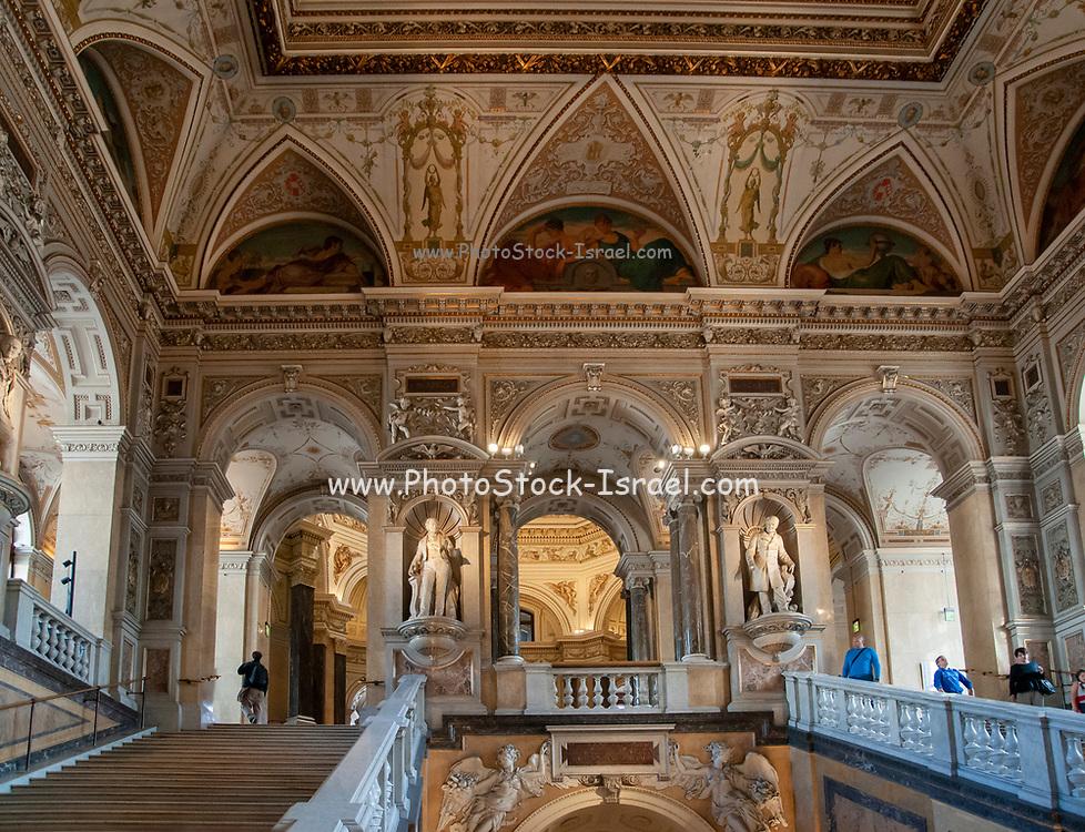 Interior of the Natural History Museum, Vienna, Austria