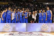 DESCRIZIONE : Ancona Beko All Star Game 2013-14 Beko All Star Team Italia Nazionale Maschile<br /> GIOCATORE : team nazionale<br /> CATEGORIA : podio coppa premiazione team nazionale<br /> SQUADRA : All Star Team Italia Nazionale Maschile<br /> EVENTO : All Star Game 2013-14<br /> GARA : Italia All Star Team<br /> DATA : 13/04/2014<br /> SPORT : Pallacanestro<br /> AUTORE : Agenzia Ciamillo-Castoria/C.De Massis<br /> Galleria : FIP Nazionali 2014<br /> Fotonotizia : Ancona Beko All Star Game 2013-14 Beko All Star Team Italia Nazionale Maschile<br /> Predefinita :