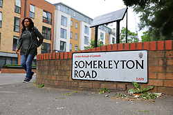 © Licensed to London News Pictures. 07/06/2018. London, UK. Somerleyton Road in Brixton where it is reported that a double shooting has taken place in which a man and a woman were injured. Photo credit: Rob Pinney/LNP