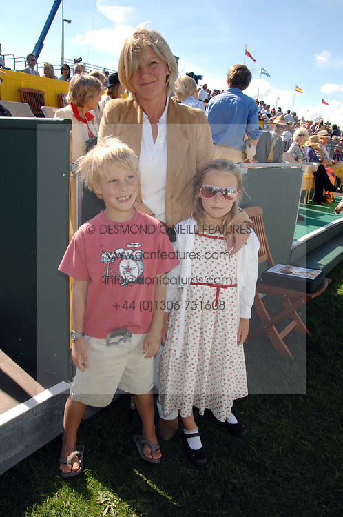 The COUNTESS OF MARCH with her twin children LADY ELOISE GORDON-LENNOX and LORD FREDDIE GORDON-LENNOX at the final of the Veuve Clicquot Gold Cup 2007 at Cowdray Park, West Sussex on 22nd July 2007.<br /><br />NON EXCLUSIVE - WORLD RIGHTS