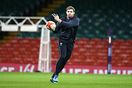 Leigh Halfpenny of Wales during the Wales rugby team captains run at the Principality Stadium  in Cardiff , South Wales on Friday 2nd February 2018.  the team are preparing for their opening Natwest 6 Nations 2018 championship match against Scotland tomorrow.   pic by Andrew Orchard