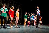 """Bobby"" Chris Weimann at the auditions during dress rehearsal for the ""Chorus Line"" at Gilford High School on Wedneday evening.  (Karen Bobotas/for the Laconia Daily Sun)"
