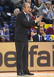 November 17, 2017 - Barcelona, Catalonia, Spain - Txus Vidorreta during the match between FC Barcelona v Anadolou Efes corresponding to the week 8 of the basketball Euroleague, in Barcelona, on November 17, 2017. (Credit Image: © Joan Valls/NurPhoto via ZUMA Press)
