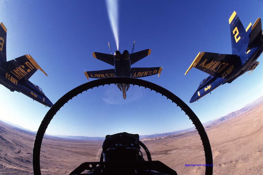 Blue Angels in F/A-18 Hornets from slot position