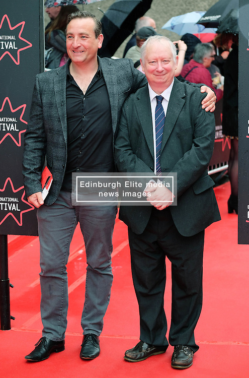 """Edinburgh International Film Festival, Sunday 26th June 2016<br /> <br /> Stars turn up on the closing night gala red carpet for the World Premiere of """"Whisky Galore!""""  at the Edinburgh International Film Festival 2016<br /> <br /> Michael Nardone who plays Brown and Brian Pettifer who plays Angus in the film<br /> <br /> (c) Alex Todd 