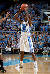 CHAPEL HILL, NC - FEBRUARY 15: Harrison Barnes #40 of the North Carolina Tar Heels looks to pass the ball while playing the Wake Forest Demon Deacons at the Dean E. Smith Center in Chapel Hill, North Carolina. North Carolina won 64-78. (Photo by Peyton Williams/UNC/Getty Images) *** Local Caption *** Harrison Barnes