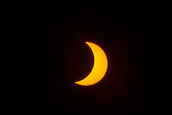 Solar Eclipse over California. August 21, 2017 in Los Angeles, California. Photo by Lionel Hahn/AbacaPress.com