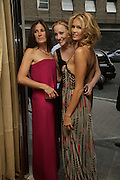 Elle MacPherson, Amy Sacco  and Elizabeth Saltzman,. Natalia Vodianova and Elle Macpherson host a dinner in honor of Francisco Costa (creative Director for women) and Italo Zucchelli (creative director for men)  of Calvin Klein. Locanda Locatelli, 8 Seymour St. London W1. ONE TIME USE ONLY - DO NOT ARCHIVE  © Copyright Photograph by Dafydd Jones 66 Stockwell Park Rd. London SW9 0DA Tel 020 7733 0108 www.dafjones.com