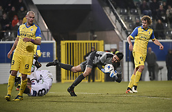 February 17, 2018 - Leuven, BELGIUM - Beerschot's goalkeeper Rafael Romo pictured in action during a soccer game between OH Leuven and KFCO Beerschot Wilrijk, in Heverlee, Leuven, Saturday 17 February 2018, on day 27 of the division 1B Proximus League competition of the Belgian soccer championship. BELGA PHOTO BRUNO FAHY (Credit Image: © Bruno Fahy/Belga via ZUMA Press)