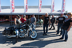 Hal's Harley-Davidson was a big part of the Milwaukee Rally. Milwaukee, WI, USA. Friday, September 2, 2016. Photography ©2016 Michael Lichter.