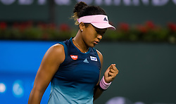 March 9, 2019 - Indian Wells, USA - Naomi Osaka of Japan in action during her second-round match at the 2019 BNP Paribas Open WTA Premier Mandatory tennis tournament (Credit Image: © AFP7 via ZUMA Wire)