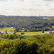 Summertime panorama photos at Shawnee Mission Park in suburban Kansas City, taken on assignment for Performance Automotive.