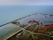 Nederland, Flevoland, Markermeer, 26-08-2019; Marker Wadden in het Markermeer. Plas dras gebied aan de westkant, met vogelkijkhut.<br /> Doel van het project van Natuurmonumenten en Rijkswaterstaat is natuurherstel, met name verbetering van de ecologie in het gebied, in het bijzonder de kwaliteit van bodem en water<br /> Naast het hoofdeiland is er inmiddels een tweede eiland in wording, de uiteindelijk Marker Wadden archipel zal uit vijf eilanden bestaan. <br /> Marker Wadden, artifial islands. The aim of the project is to restore the ecology in the area, in particular the quality of soil and water.<br /> The first phase of the construction, the main island, is finished. <br /> <br /> luchtfoto (toeslag op standard tarieven);<br /> aerial photo (additional fee required);<br /> copyright foto/photo Siebe Swart