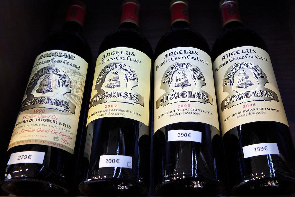 Chateau Angelus Premier Grand Cru Classe 1998, 2002, 2005, 2006  fine wine on sale, St Emilion, Bordeaux, France