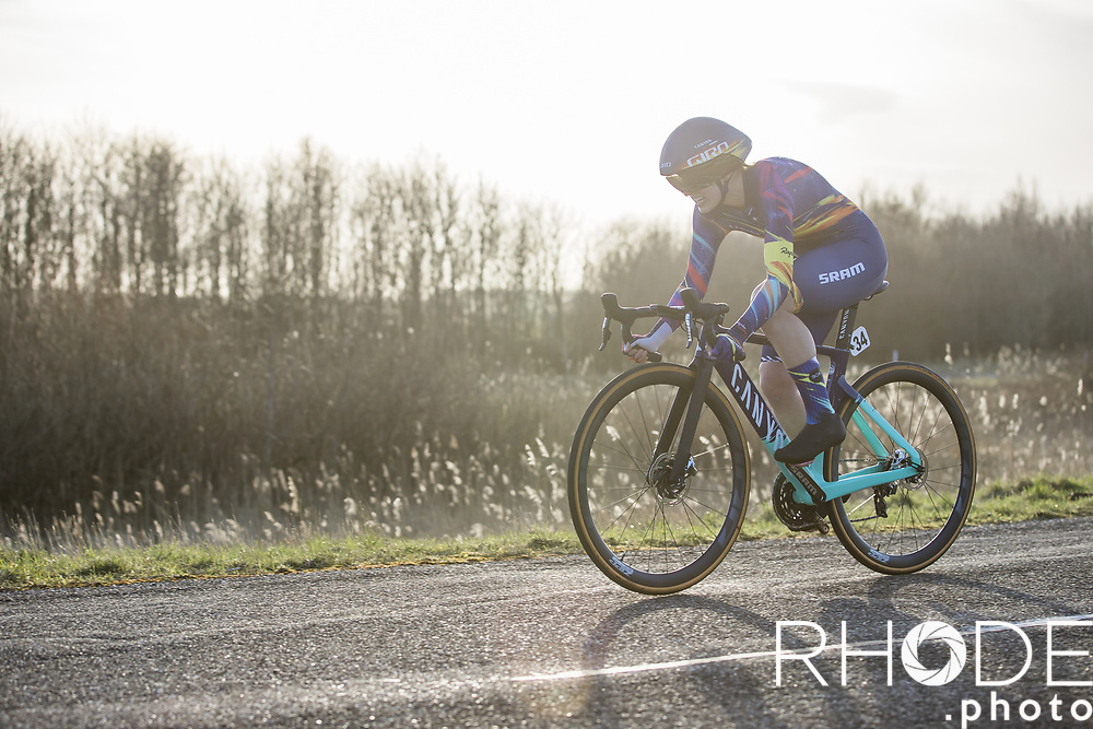 Alexis Ryan (USA/Canyon SRAM)<br /> <br /> Healthy Ageing Tour (NED) 2021<br /> UCI Women Elite 2.1<br /> Stage 2 : Individual Time Trial (ITT) – Lauwersoog – Het Hoogeland 14.4km<br /> <br /> ©RhodePhoto