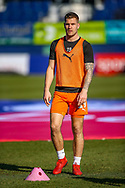 Luton Town forward James Collins warms up ahead of the EFL Sky Bet League 1 match between Luton Town and Coventry City at Kenilworth Road, Luton, England on 24 February 2019.