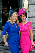Edel Quinlan, Kilkenny, Michelle Robles, Chicago  at the Hotel Meyrick Most Stylish Lady event on ladies day of The Galway Races. Photo:Andrew Downes