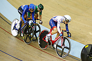 Women Elimination Race, Laura Kenny (Great Britain), Elisa Balsamo (Italy), during the Track Cycling European Championships Glasgow 2018, at Sir Chris Hoy Velodrome, in Glasgow, Great Britain, Day 4, on August 5, 2018 - Photo Luca Bettini / BettiniPhoto / ProSportsImages / DPPI - Belgium out, Spain out, Italy out, Netherlands out -