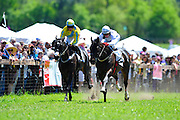 April 7, 2012 - Nadal and Brian Crowley (right) win the Pond House Training Flat at Stoneybrook Steeplechase, Raeford NC