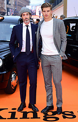 Richard Biedul and Toby Huntington-Whiteley attending the World Premiere of Kingsman: The Golden Circle, at Cineworld in Leicester Square, London. Picture Date: Monday 18 September. Photo credit should read: Ian West/PA Wire