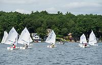 Lake Winnipesaukee Sailing Association's annual youth regatta from WYC Thursday, July 26, 2013.  Karen Bobotas/for the Laconia Daily Sun
