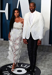 Gabrielle Union and Dwyane Wade attending the Vanity Fair Oscar Party held at the Wallis Annenberg Center for the Performing Arts in Beverly Hills, Los Angeles, California, USA.