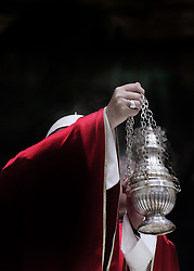 November 3,  2018  - Vatican City (Holy See)  POPE FRANCIS celebrates holy mass for the repose of the soul of the cardinals and bishops  who died over the course of the year in St. Peter's Basilica at the Vatican  (Credit Image: © Evandro Inetti/ZUMA Wire)