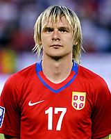 Fotball<br /> 06.06.2009<br /> Serbia v Østerrike<br /> Foto: Gepa/Digitalsport<br /> NORWAY ONLY<br /> <br /> Bild zeigt Milos Krasic (SRB)