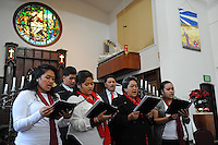 """In a Christmas Eve service at the United Methodist Church, the Hatti Nai family of Salinas performs """"Sing Haleluia Hosana, Jesus is Born Today"""" in soaring harmony."""