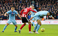Burnley's Dwight McNeil shields the ball from Sheffield United's Oliver Norwood<br /> <br /> Photographer Rich Linley/CameraSport<br /> <br /> The Premier League - Sheffield United v Burnley - Saturday 2nd November 2019 - Bramall Lane - Sheffield<br /> <br /> World Copyright © 2019 CameraSport. All rights reserved. 43 Linden Ave. Countesthorpe. Leicester. England. LE8 5PG - Tel: +44 (0) 116 277 4147 - admin@camerasport.com - www.camerasport.com