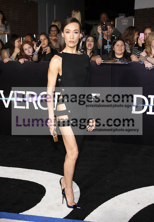 """Maggie Q at the Los Angeles premiere of """"Divergent"""" held at the Regency Bruin Theatre in Westwood, USA on March 18, 2014."""