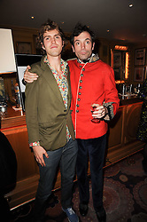 Left to right, brothers JOSH SYKES and TOM SYKES at a party to celebrate the publication of Blow by Blow - The Story of Isabella Blow by Detmar Blow and Tom Sykes held at Annabel's, Berkeley Square, London on 21st September 2010.